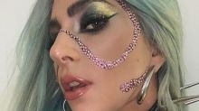 Lady Gaga Wears Rhinestone On Face And Creates A Wow Make-up Moment