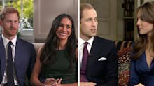 Body language experts compare Harry and Meghan's engagement interview to William and Kate's