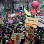 Over half a million march as France paralysed by strike