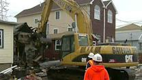 Demolition begins on homes damaged by Hurricane Sandy