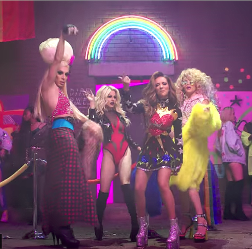 Alaska, Courtney Act, and Willam in Little Mix's