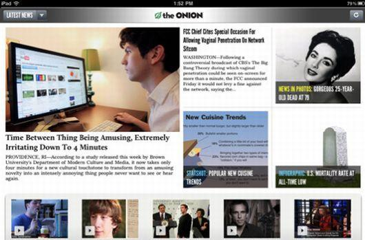 Onion releases iPad app, The Onion Tablet