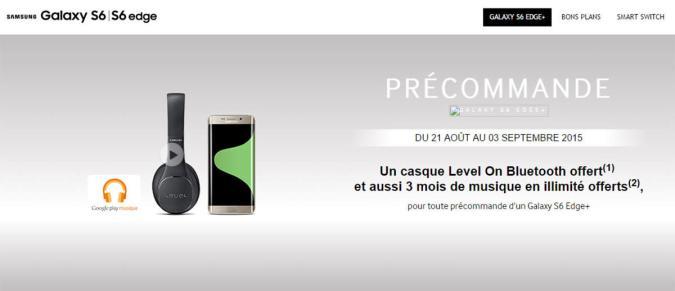 Leak shows Galaxy S6 Edge+ preorders start August 21