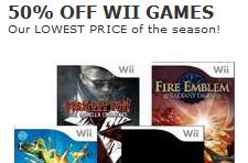 Toys R Us does 50% off select Wii games