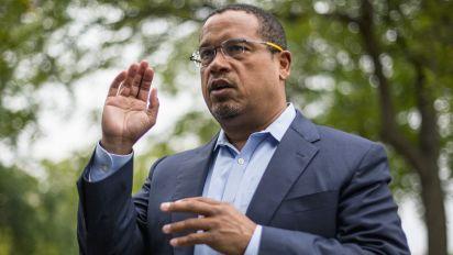DNC leader Ellison says ex-wife abused him