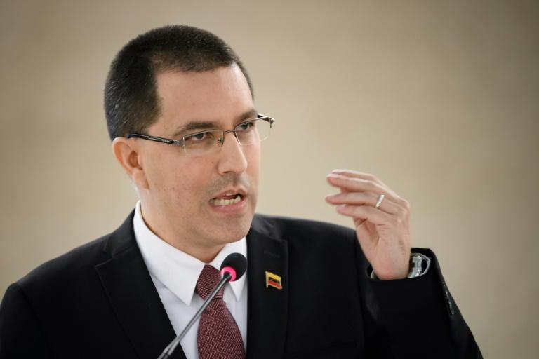 Venezuela's Foreign Minister Jorge Arreaza accused the United States of a 'vulgar dispossession' of central bank funds