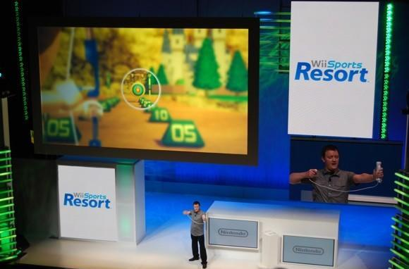 Go skydiving, do archery, shoot hoops in Wii Sports Resort