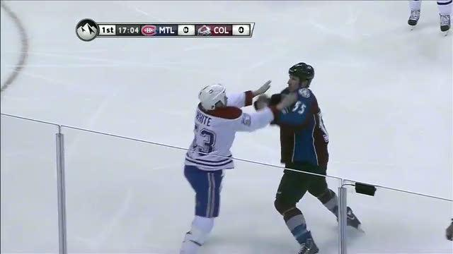 Ryan White and Cody McLeod scrap