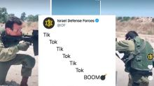 The Israeli military is facing backlash after introducing its Tik Tok account with a bomb joke