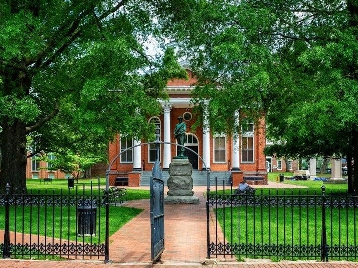 A Confederate statue on the grounds of the Loudoun County courthouse in Leesburg was removed overnight by a contractor.