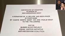 Kanye West Just Donated $1 Million to Charity for Wife Kim Kardashian's Birthday