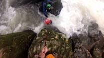 Kayakers Save Friend from Rapids: Caught on Tape