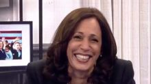 Kamala Harris Cracks Up When Asked 1 Question About Her Debate With Mike Pence