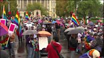 Politicians, governor, supporters rally for gay marriage at state capitol