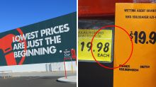 Bunnings shoppers left confused by 'discount' price tag