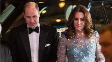 Pregnant Kate and William arrive late after gunshot reports