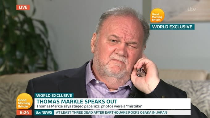 Meghan Markle's estranged father reveals letter she sent him