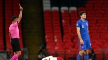 Harry Maguire red card: Manchester United captain sent off during England vs Denmark as torrid spell continues