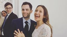 And the Bride Wore Beige! Penn Badgley and Domino Kirke Get Married — Again
