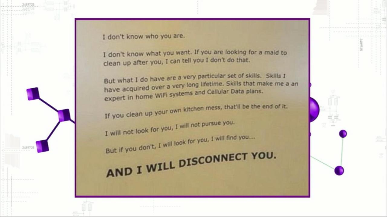 Father Threatens to Cut Off Teens' Internet Access in Hilarious 'Taken'-Inspired Note