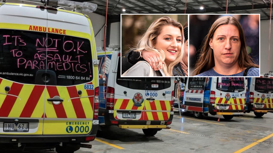 Furious paramedics protest decision not to jail women who beat ambulance worker