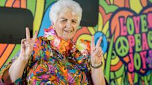 Pam St. Clement smokes cannabis bong for new travel show Gone To Pot