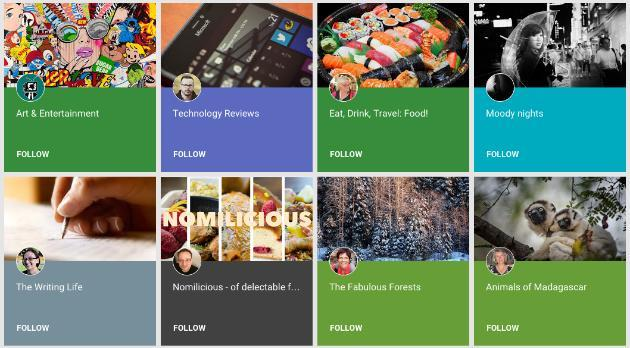 Google+ launches Collections, a Pinterest-style sharing board