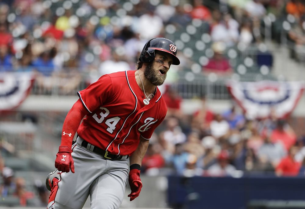 Bryce Harper leads all vote-getters in the first NL All-Star tally. (AP)