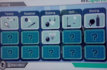 Wii Sports: Training and Fitness modes documented