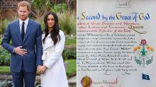 La regina ha detto sì: il documento ufficiale scritto a mano