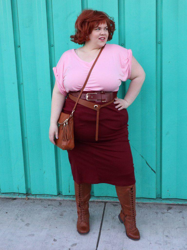 "<p>Channel your inner Molly Ringwald in a costume that'll seriously impress anyone who <a href=""https://www.womansday.com/style/g22646261/best-80s-costumes/"" rel=""nofollow noopener"" target=""_blank"" data-ylk=""slk:grew up in the '80s"" class=""link rapid-noclick-resp"">grew up in the '80s</a>.</p><p><strong>Get the tutorial at <a href=""http://www.vintageortacky.com/2016/11/17/11350/"" rel=""nofollow noopener"" target=""_blank"" data-ylk=""slk:Vintage or Tacky"" class=""link rapid-noclick-resp"">Vintage or Tacky</a>.</strong></p><p><strong>What you'll need: </strong>light pink t-shirt ($5; <a href=""https://www.amazon.com/Just-My-Size-Womens-Heather/dp/B018454X4Q/"" rel=""nofollow noopener"" target=""_blank"" data-ylk=""slk:amazon.com"" class=""link rapid-noclick-resp"">amazon.com</a>), brown midi skirt ($19; <a href=""https://www.amazon.com/Stretch-Comfort-Womens-Skirt-Brown/dp/B0753LPJ99/"" rel=""nofollow noopener"" target=""_blank"" data-ylk=""slk:amazon.com"" class=""link rapid-noclick-resp"">amazon.com</a>), brown belt ($9; <a href=""https://www.amazon.com/TUNGHO-Simplicity-Leather-Belts-Women/dp/B07DDBPT1Q/"" rel=""nofollow noopener"" target=""_blank"" data-ylk=""slk:amazon.com"" class=""link rapid-noclick-resp"">amazon.com</a>), brown knee-high boots ($25; <a href=""https://www.amazon.com/dp/B00QVJXC8Q/"" rel=""nofollow noopener"" target=""_blank"" data-ylk=""slk:amazon.com"" class=""link rapid-noclick-resp"">amazon.com</a>), brown cross-body bag ($26; <a href=""https://www.amazon.com/Vintage-Satchel-Crossbody-Shoulder-Adjustable/dp/B07BHC4Q2S"" rel=""nofollow noopener"" target=""_blank"" data-ylk=""slk:amazon.com"" class=""link rapid-noclick-resp"">amazon.com</a>)</p>"