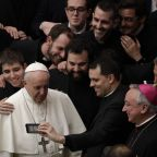 The Latest: Pope says church's attackers are linked to devil