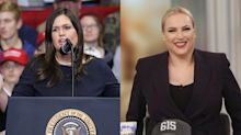Meghan McCain gets blunt with Sarah Huckabee Sanders on Trump's alleged treatment of military: 'We do not feel respected'