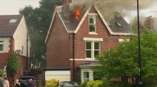 House struck by lightning as summer thunderstorms and flash flooding hit UK