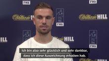 Trainer-Reaktionen zu Henderson als Fußballer des Jahres