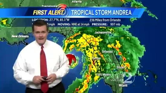 10 a.m. update: Andrea drenching Central Florida
