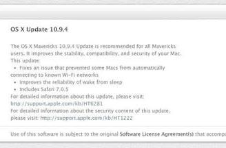 Apple releases OS X 10.9.4, iOS 7.1.2, and Apple TV update