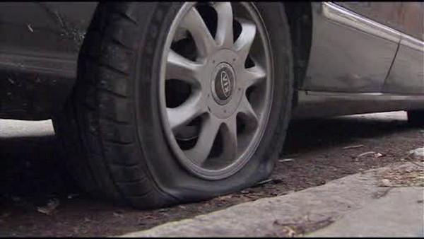 Tires slashed on 59 vehicles in West Philly, $10K reward offered