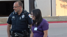 Police officer meets hospital employee who left thank-you note after Odessa shooting: 'I can not express how grateful I am'