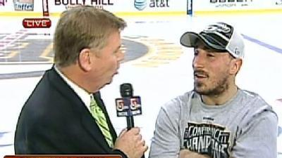 Bruins' Marchand Talks About Win
