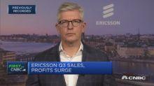 Ericsson third-quarter sales beat expectations, operating profit jumps