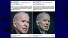 Etats-Unis: l'équipe de campagne de Donald Trump publie des photos retouchées de Joe Biden le rendant plus vieux