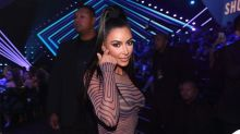 Kim Kardashian wore a naked optical illusion dress to the 2018 People's Choice Awards