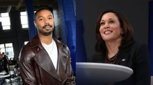 Kamala Harris And Michael B. Jordan Kick Off NBA All-Star Game With 'Special Conversation'