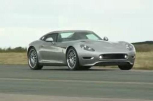 Lightning GT caught rolling around the track