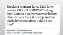Ellie Goulding comforts driver after horror of being pushed sideways along road by Royal Mail lorry