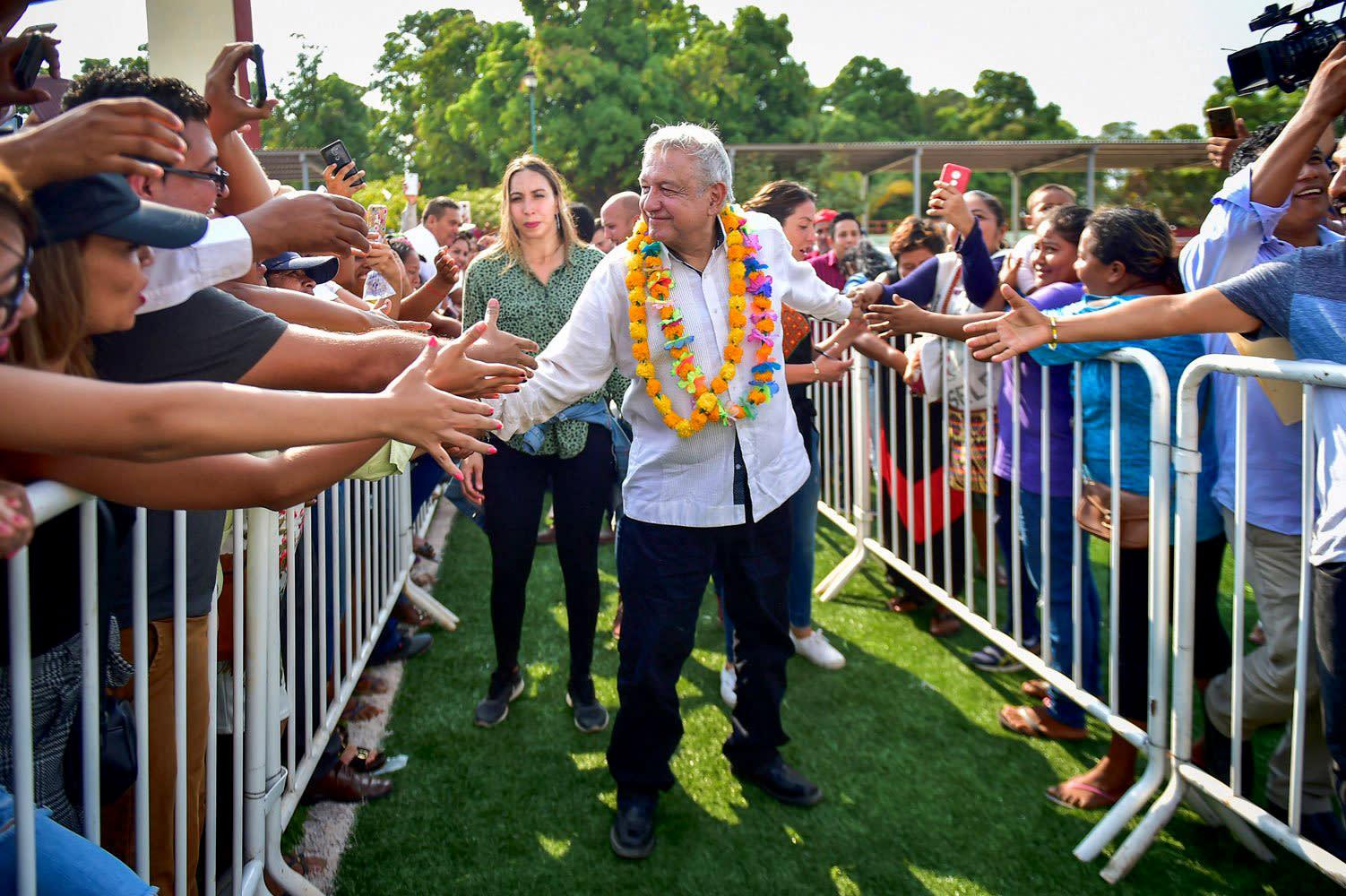 What coronavirus? Mexico's president touching people, holding rallies