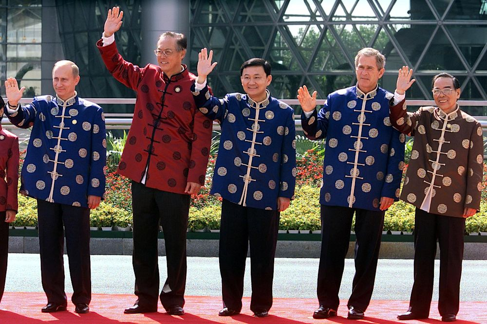 Russia President Vladimir Putin, Prime Minister of Singapore Goh Chok Tong, Thai Prime Minister Thaksin Shinawatra, President George W. Bush and Vietnamese Prime Minister Phan Van Khai