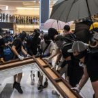 Fresh Hong Kong clashes outside mall but airport avoids disruption