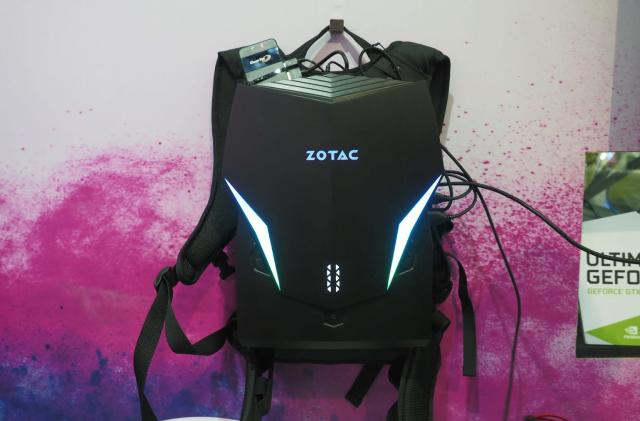 Zotac cut battery life to make its VR backpack smaller